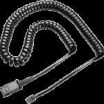 Plantronics U10 Coil Cord to QD Modular Plug